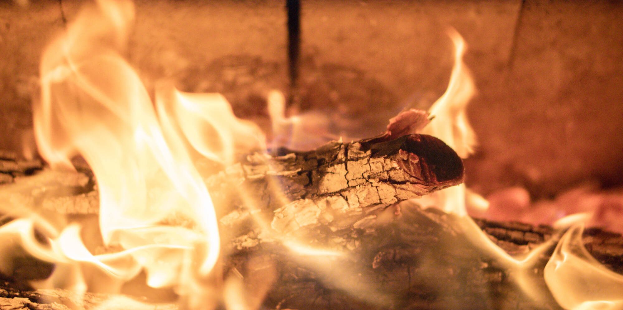 Närbild eld