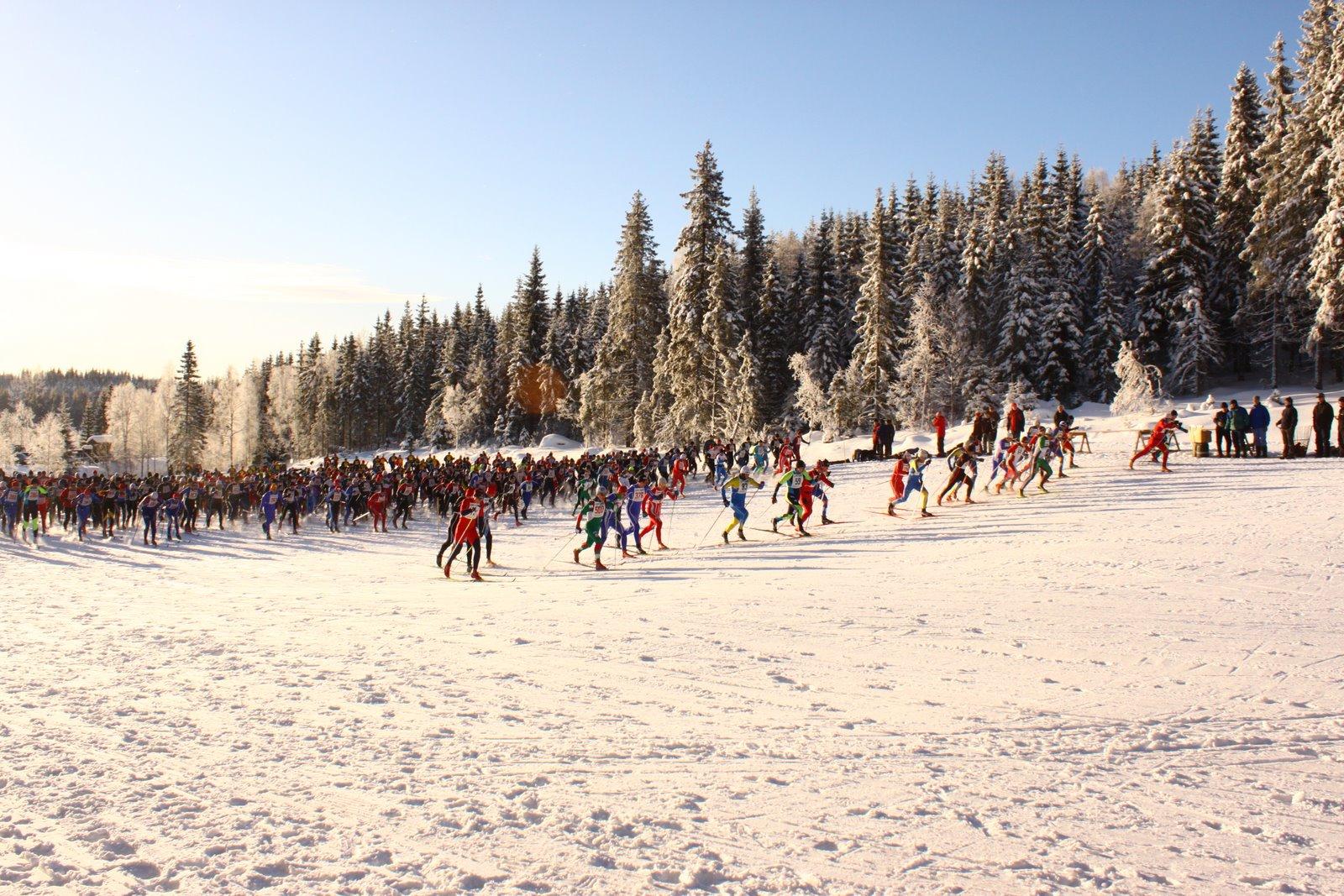Starten Mattila Ski Marathon