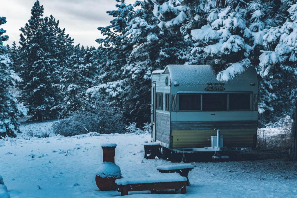 Husvagn på vintern