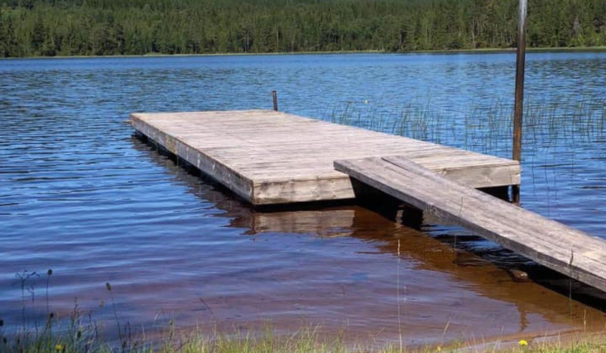 Badplatsen vid Mulltjärn