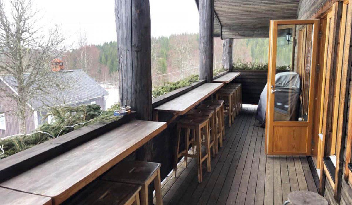 Restaurangens terass