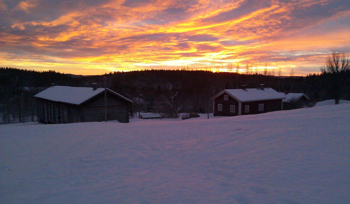 Solnedgång över Mattila