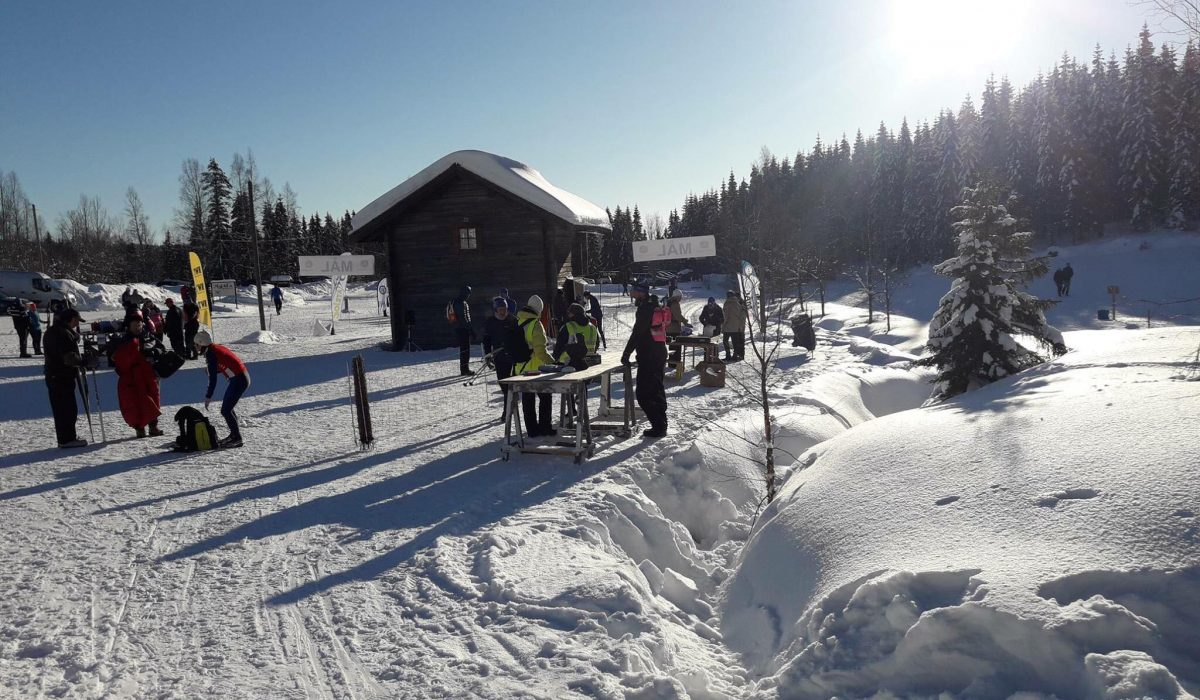 Målområdet Mattila Ski Marathon